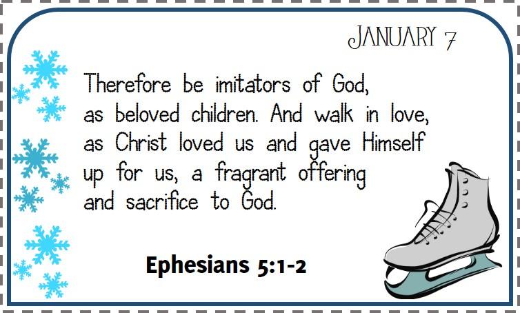 Freebie Printable: January Bible Verse Calendar – Xapa to the World