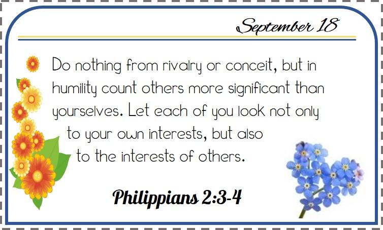 Freebie Printable: September Bible Verse Calendar – Xapa to the World